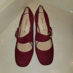 BEAUTIFUL Antonio Melani Burgundy Mary Jane shoes